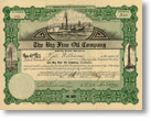 Big Five oil stock certificate